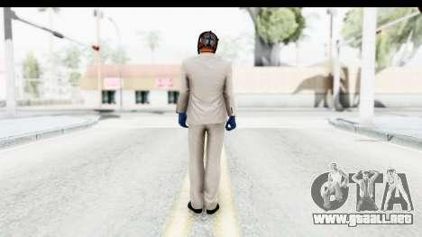 Payday 2 - Jiro with Mask para GTA San Andreas tercera pantalla