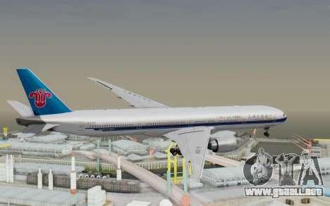 Boeing 777-300ER China Southern Airlines para la visión correcta GTA San Andreas
