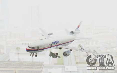 DC-10-30 Malaysia Airlines (Old Livery) para GTA San Andreas vista posterior izquierda