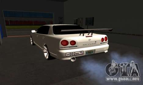Nissan Skyline ER34 GT-R para GTA San Andreas left