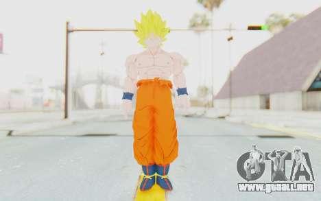 Dragon Ball Xenoverse Goku Shirtless SSJ para GTA San Andreas segunda pantalla