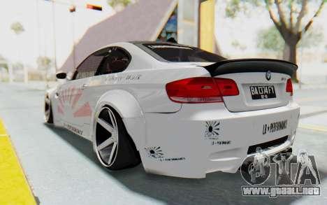 BMW M3 E92 Liberty Walk LB Performance para GTA San Andreas left