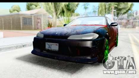 Nissan Silvia S15 Galaxy Drift v2.1 para GTA San Andreas vista hacia atrás