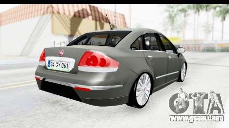 Fiat Linea 2014 para la visión correcta GTA San Andreas