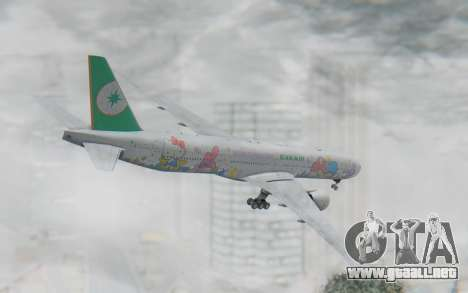 Boeing 777-300ER Eva Air v2 para GTA San Andreas left