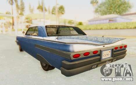 GTA 5 Declasse Voodoo Alternative v1 para la visión correcta GTA San Andreas