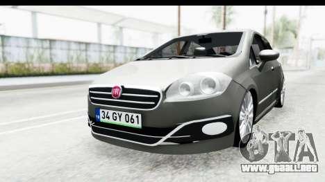 Fiat Linea 2014 para GTA San Andreas vista posterior izquierda