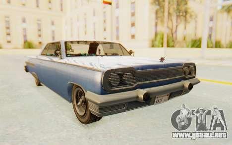 GTA 5 Declasse Voodoo Alternative v1 para GTA San Andreas vista posterior izquierda
