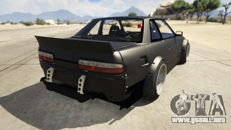 GTA 5 Nissan Silvia S13 6666 Rocket Bunny 1.7 vista lateral izquierda trasera