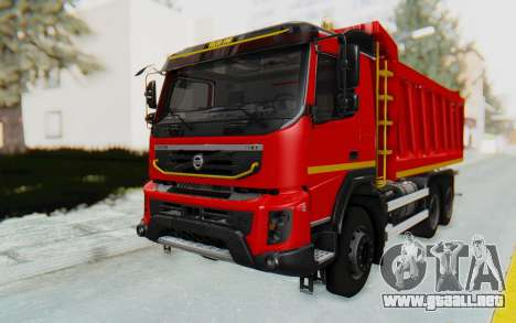 Volvo FMX 6x4 Dumper v1.0 para la visión correcta GTA San Andreas