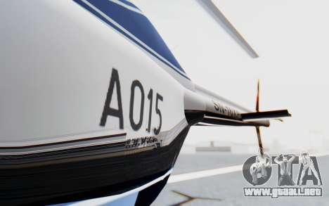 Bell 206B-III Jet Ranger Policja para visión interna GTA San Andreas