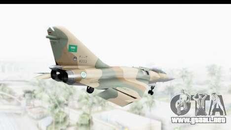 Dassault Mirage 4000 Royal Saudi Air Force para la visión correcta GTA San Andreas