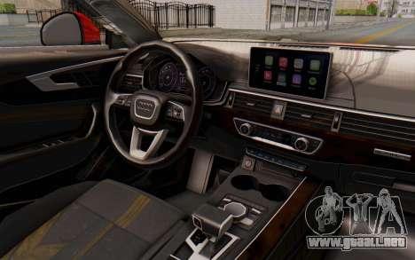 Audi A4 2017 IVF para vista lateral GTA San Andreas