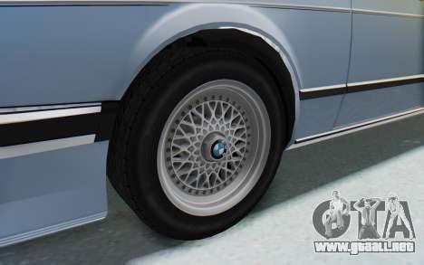 BMW M635 CSi (E24) 1984 IVF PJ1 para GTA San Andreas vista hacia atrás