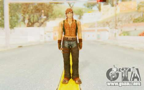 Hwoarang Skin para GTA San Andreas segunda pantalla