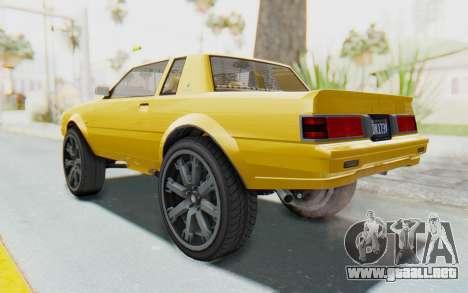 GTA 5 Willard Faction Custom Donk v1 IVF para GTA San Andreas left