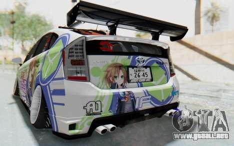 Toyota Prius Hybrid 2011 Hellaflush IF Itasha para vista inferior GTA San Andreas