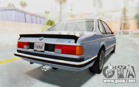 BMW M635 CSi (E24) 1984 IVF PJ1 para GTA San Andreas left