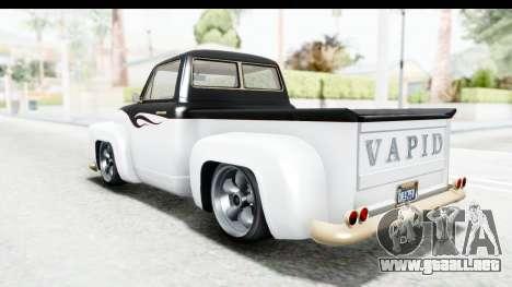GTA 5 Vapid Slamvan without Hydro para las ruedas de GTA San Andreas