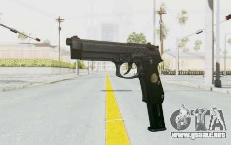 Tariq Iraqi Pistol Back v1 Black Long Ammo para GTA San Andreas