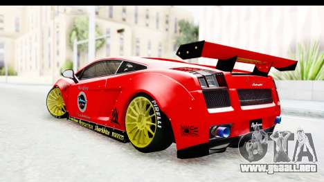 Lamborghini Gallardo Superleggera 2007 para GTA San Andreas left