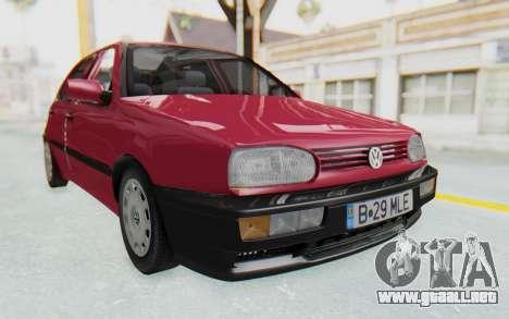 Volkswagen Golf 3 1994 para la visión correcta GTA San Andreas