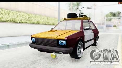 Zastava Yugo Koral Rat Style para la visión correcta GTA San Andreas
