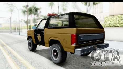 Ford Bronco 1982 Police IVF para GTA San Andreas left