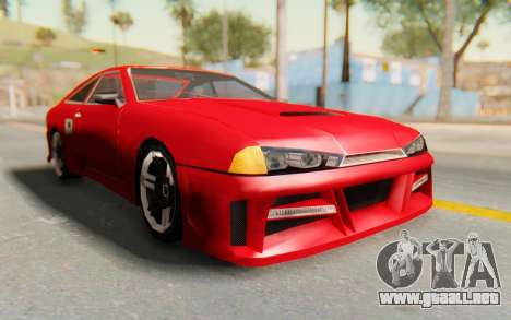 Elegy GT v1 para GTA San Andreas vista hacia atrás
