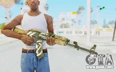 CS:GO - AK-47 Wasteland Rebel para GTA San Andreas tercera pantalla