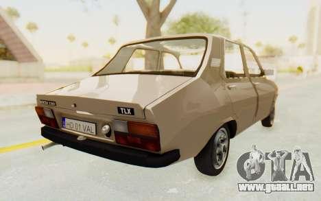 Dacia 1310 TLX para GTA San Andreas vista posterior izquierda