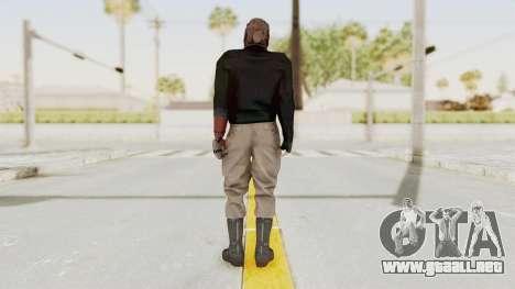 MGSV Phantom Pain Venom Snake Leather Jacket para GTA San Andreas tercera pantalla