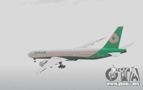Boeing 777-300ER Eva Air v3 para la visión correcta GTA San Andreas