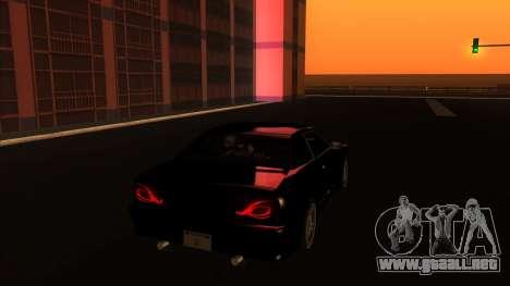 Elegy Bushido para GTA San Andreas vista posterior izquierda