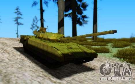 T-14 Armata Green para GTA San Andreas vista posterior izquierda