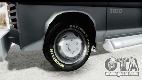 GMC 3100 Diesel para GTA San Andreas vista hacia atrás