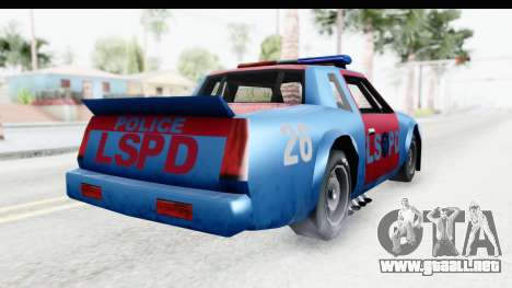 Hotring Police para la visión correcta GTA San Andreas