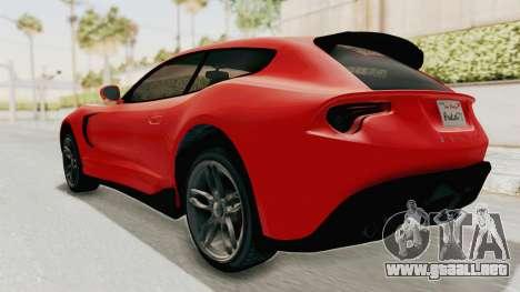 GTA 5 Grotti Bestia GTS v2 IVF para GTA San Andreas left