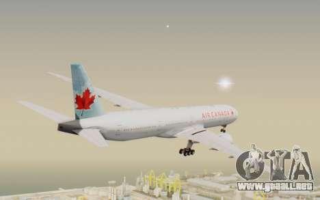 Boeing 777-300ER Air Canada para la visión correcta GTA San Andreas