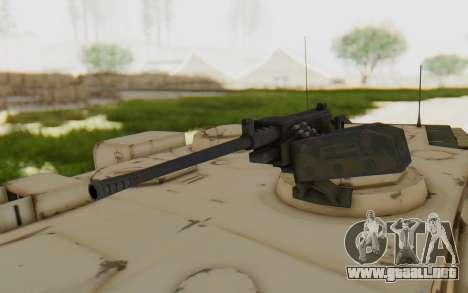 MGSV Phantom Pain M84A MAGLOADER para GTA San Andreas vista hacia atrás