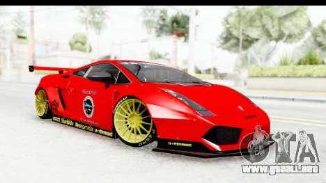 Lamborghini Gallardo Superleggera 2007 para GTA San Andreas