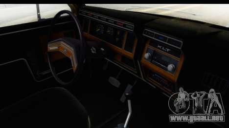 Ford Bronco 1980 IVF para visión interna GTA San Andreas