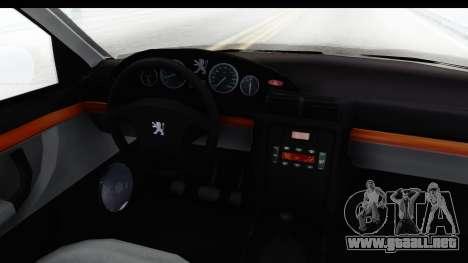 Peugeot 406 Coupe para visión interna GTA San Andreas