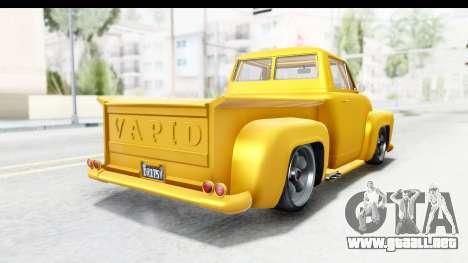 GTA 5 Vapid Slamvan without Hydro para la visión correcta GTA San Andreas
