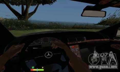Mercedes-Benz MB W140 1999 para GTA San Andreas vista hacia atrás