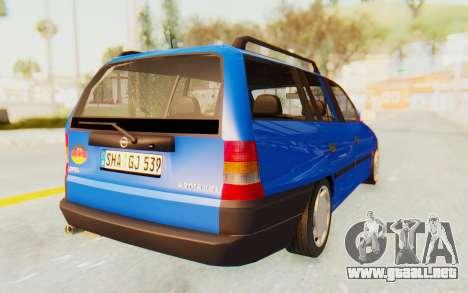 Opel Astra F Kombi 1997 para GTA San Andreas vista posterior izquierda