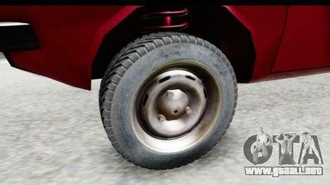 Dacia 1310 TLX v2 para GTA San Andreas vista hacia atrás