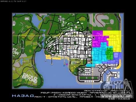 Mapa de SAMP para GTA San Andreas