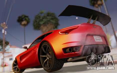GTA 5 Dewbauchee Seven 70 SA Lights para la vista superior GTA San Andreas