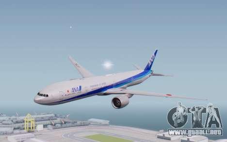 Boeing 777-300ER ZK-OKO - Smaug Livery para GTA San Andreas vista posterior izquierda